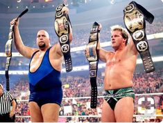 Y2j &big show as tag team champions, the last of wrestlings great tag team title belts.