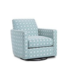 The Rupert Teal swivel glider chair features a tight back, track arms with box border welt and a loose seat cushion. WIth the seat cushion being loose and reversable, it can be rotated to prolong the life of the material as well as the cushion core. It also allows for a more comfortable sit than a tight seat. The Rupert Teal swivel glider chair is a nice compliment to the TNT Nickel Collection, but also will will with most any transitional sofa or as a stand alone accent chair. The fabric is…