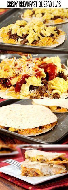 Crispy Breakfast Quesadillas.