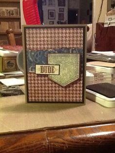 Ginger's Vintage Room: Dakota, close to my heart, ctmh, boy card