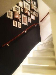 Foto wand in trappengat bewerkstelligen
