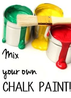 A Chalk Paint Recipe Round-up: Mix Your Own Chalk Paint! - I've been using home-made chalk paint for a while now, because I just can't justify the cost of the r…