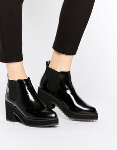 Image 1 of ASOS RISKY AND FRISKY Chelsea Ankle Boots