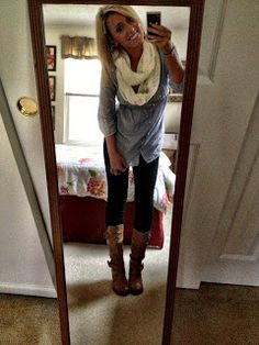 Super cute fall outfit, actually this girl's entire blog is full of cute outfit ideas!!!