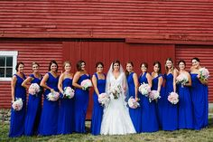 Blue and White Wedding Ideas - rustic backyard wedding | Bethany and Dan Photography | Glamour & Grace