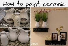 How to paint ceramic - a tutorial from houseofhepworths.com