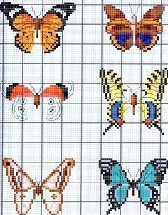 no color chart, just use pattern chart colors as your guide. or choose your own colors. no color chart, just use pattern chart colors as your guide. or choose your own colors. Butterfly Cross Stitch, Cross Stitch Bird, Beaded Cross Stitch, Cross Stitch Animals, Cross Stitching, Cross Stitch Embroidery, Embroidery Patterns, Butterfly Pattern, Funny Cross Stitch Patterns
