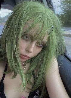 Dye My Hair, New Hair, Hair Dye Colors, Hair Color, Hair Inspo, Hair Inspiration, Hair Reference, Aesthetic Hair, Green Hair