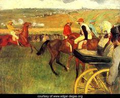 The Racecourse, Amateur Jockeys - Edgar Degas - www.edgar-degas.org