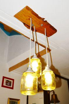lamp in gang. 1, stuk schaaldeel 3 bonenpotten, fittingen en snoer.