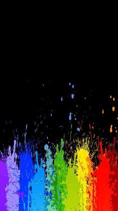 New Painting Simple Mobiles Ideas Rainbow Wallpaper, Cute Wallpaper Backgrounds, Dark Wallpaper, Wallpaper Iphone Cute, Colorful Wallpaper, Cute Wallpapers, Posca Art, Gay Aesthetic, Rainbow Aesthetic