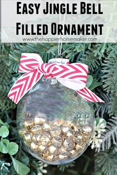 easy jingle bell filled ornament