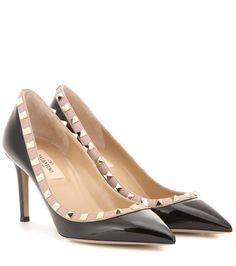 VALENTINO Rockstud Patent Leather Pumps. #valentino #shoes #pumps