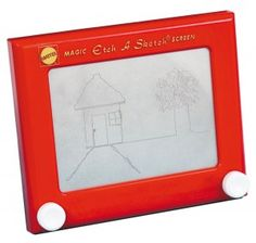 Etch a Sketch. Was anyone else as bad at this as I was? I was happy if I could could make one semi-straight line!