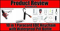 10 in 1 Paracord EDC Keychain with Waterproof Pill Bottle Review