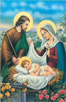 art postcard religion topic Holy Family fantasy