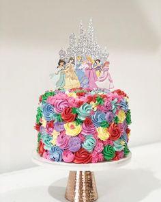 Easy Princess Cake, Disney Princess Birthday Cakes, First Birthday Cakes, 3rd Birthday, Birthday Design, Princess Party, Birthday Ideas, Chocolate Buttercream, Chocolate Cake