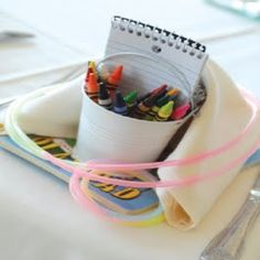 Make your younger guests feel extra special with favors just for them (and keep them busy!) @Annie Compean Compean Compean Davis you have lots of kids coming to the wedding...something like this would be sweet for them!