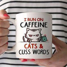 I run on caffeine, cats and cuss words. - Tap the link now to see all of our cool cat collections!