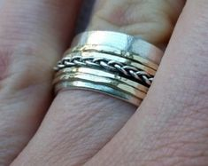 Silver and Gold Jewelry Designer by TalyaHarelDesign Silver Wedding Rings, Bridal Rings, Wedding Ring Bands, Gold Jewellery Design, Gold Jewelry, Unique Jewelry, Handmade Wedding, Summer Sale, Band Rings