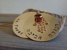 Bat Mitzvah Necklace. Personalized Hamsa by LittleHJewellery