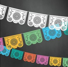 Papel Picado Flags Vector Illustrator by ShopThoughtfulPaper