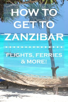 Busy planning a trip / holiday to #Zanzibar...this website is full of amazing resources! Here's a look at how to get to Zanzibar via airplane, ferries and also a look at taxi services on the island.