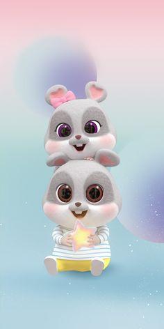 Cute Bunny Cartoon, Cute Cartoon Images, Cute Love Cartoons, Chibi Wallpaper, Hello Kitty Wallpaper, Rabbit Wallpaper, Disney Drawings Sketches, Disney Princess Drawings, Cute Black Wallpaper