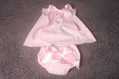 Items similar to Photographers Photography Prop,Newborn baby girl pink border anglaise dress set,low back with satin bows diaper/nappy cover. Bow Sneakers, Fenty Puma, Satin Bows, White Trim, Baby Girl Newborn, Photography Props, Pink Girl, Photographers, Patterns