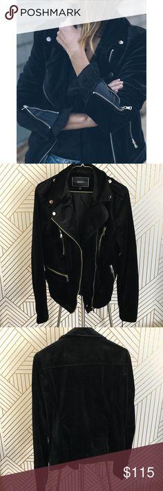 Black Velvet Moto Jacket •Black velvet moto jacket with gold hardware.  •Size Large, true to size.  •New with tag.  •No trades, no holds. BNCI Jackets & Coats