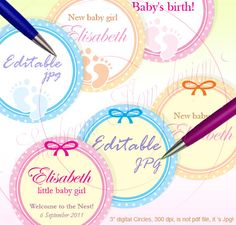 "3 Circles 85x11 Editable 22 New baby polka by SunbeamFlowTemplates, $3.40  3"" Circles 8.5x11 Editable 22 New baby polka dots Bottle Jars Labels Glass Card Envelope Decoration Hangtags Download & Print Your Own DIY,  Supplies Scrapbooking Digital Collage Sheet happy cupcake topper for pocket mirrors customizable topper invitations handmade baby images graphics baby shower stickers boys cupcake toppers girls 3 inch size baby announcement new baby boy sticker new baby girl labels birthday…"