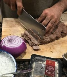 I never thought it was possible to make authentic, restaurant style Gyro Meat at home. This Gyro recipe rocks! Lamb Recipes, Greek Recipes, Meat Recipes, Cooking Recipes, Hamburger Recipes, Turkish Recipes, Donair Meat Recipe, Lamb Gyro Recipe, Beef Gyro Meat Recipe