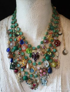 Kay Adams - another idea for a bits & bobs-type necklace