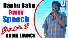 Raghu Babu Funny Speech At Aatadukundam Raa Audio Launch - Venusfilmnagar
