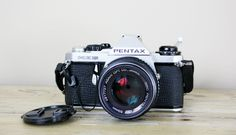 Vintage camera, Pentax ME Super 35 mm SLR camera.. $64.00, via Etsy.