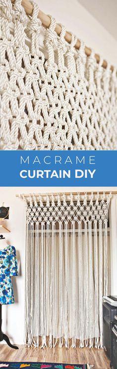 Make Your Own Macrame Curtain – A Beautiful Mess