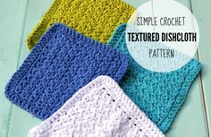 Crochet Textured Dishcloths