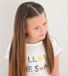 Keeping it simple with a headband braid with a little bit of a different parting. Baby Girl Hairstyles, Princess Hairstyles, Pretty Hairstyles, Braided Hairstyles, Girl Hair Dos, Toddler Hair, Hair Looks, Short Hair Styles, Hair Beauty