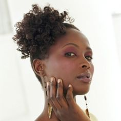 Curly side updo for African American women