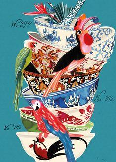 Gisela Goppel - illustration for a Thai cookbook.