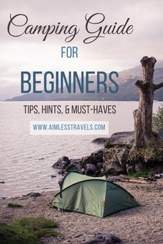 We were camping beginners at one time which is why we developed a list to make camping for beginners a more rewarding and comfortable experience.Camping For Beginners: 10 Tips & Hints - Aimless Travels Camping Hacks, Camping Essentials List, Camping Bedarf, Camping Guide, Camping Supplies, Camping Checklist, Camping Survival, Camping With Kids, Family Camping