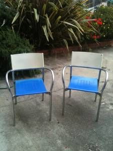 Italian Modern Patio Chairs (set of 3) - $150