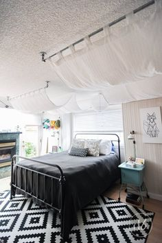 Prodigious Useful Tips: Canopy Tent Dance Floors front door canopy.Canopy Over Bed Bedspreads pvc canopy furniture.Canopy Over Bed Diy. Canopy Bedroom, Diy Canopy, Bedroom Decor, Bedroom Ideas, Bedroom Wall, Canopy Crib, Canvas Canopy, Window Canopy, Diy Home