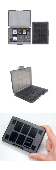 [Visit to Buy] Black 18 in 1 Game Memory Card Holder Case Storage Box for Sony PS Vita PSV   #Advertisement