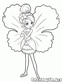 The free coloring pages 'For girls' will introduce children to the 'Elves and fairies' topic. Download and print out the coloring pages right away.