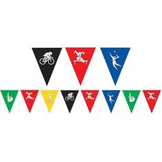 Show your love for the summer games with a Summer Games Pennant Banner. Hang this plastic summer games party decoration at your watch party or a sports-themed party! Halloween Costume Shop, Halloween Costumes For Kids, Flag Game, Summer Games, Party Summer, Oktoberfest Halloween, Personalized Party Favors, Pennant Banners, Kids Party Supplies