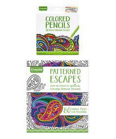 Another great find on #zulily! Crayola Adult Patterned Escapes Coloring Book Set #zulilyfinds