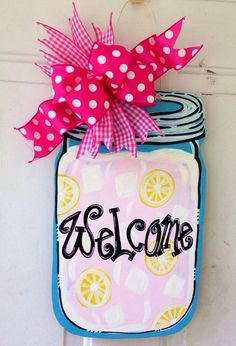 Hey, I found this really awesome Etsy listing at https://www.etsy.com/listing/201991943/sale-welcome-pink-lemonade-mason-jar
