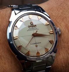 Vintage OMEGA Constellation Piepan Chronometer In Stainless Steel Circa 1950s - http://omegaforums.net