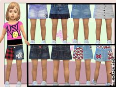 Sims 4 CC's - The Best: Toddler Denim Skirt by melisaq inci